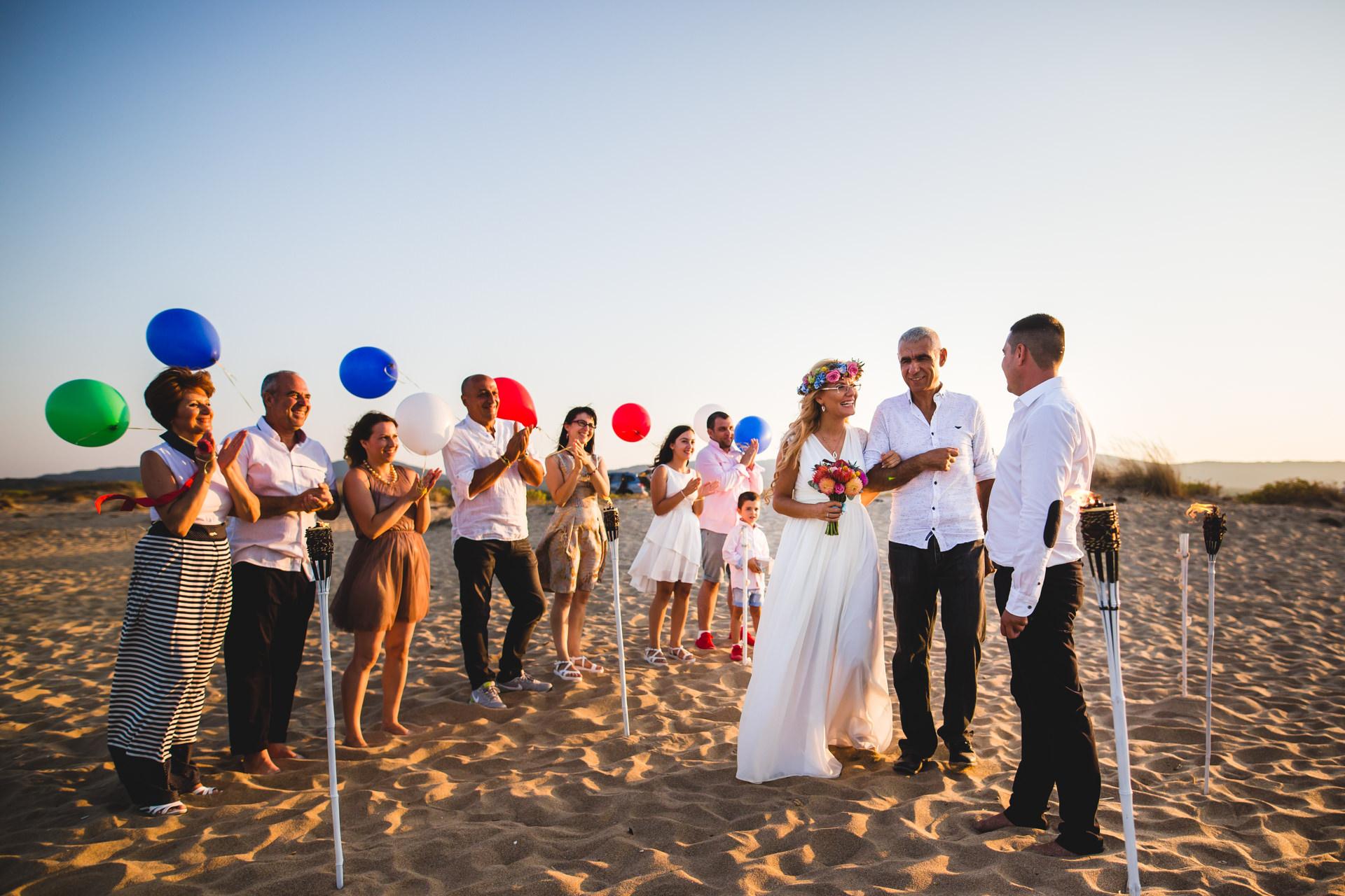 изнесен ритуал на плажа